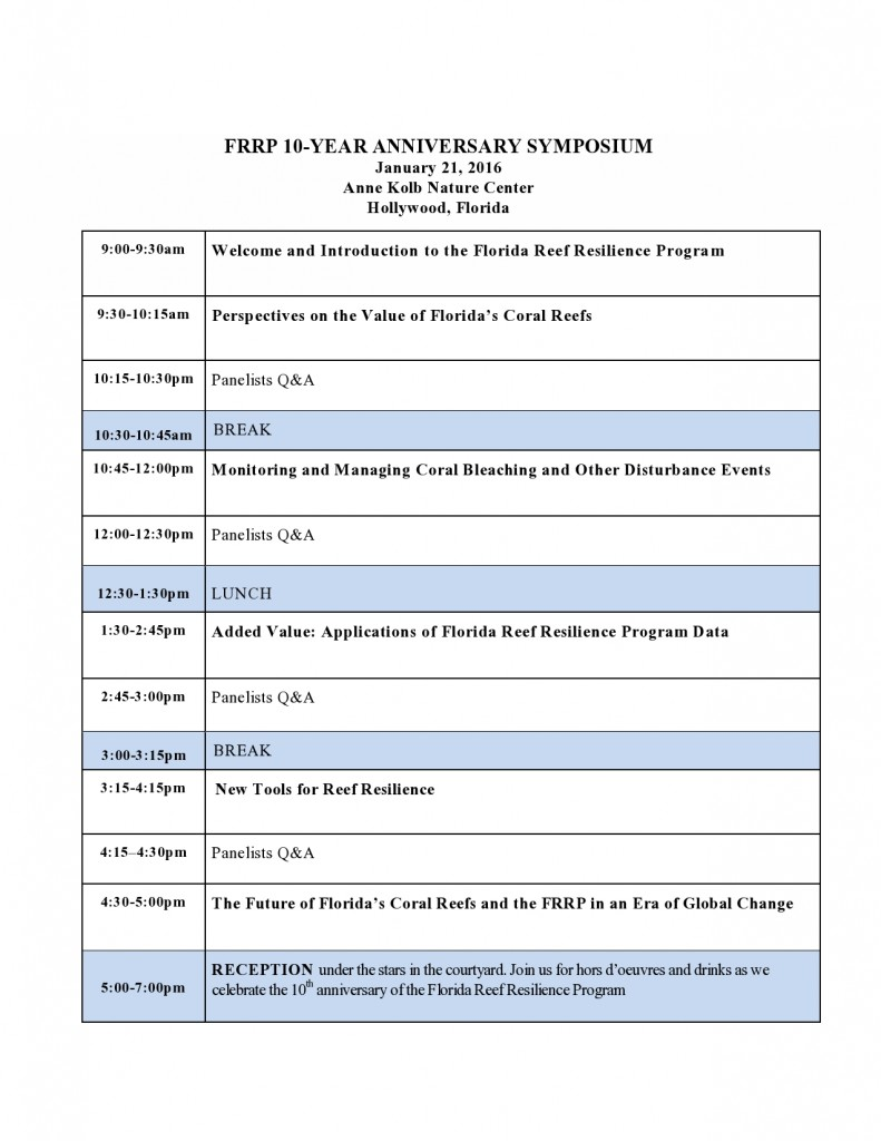 FRRP 10-Year Event simplified Agenda 1